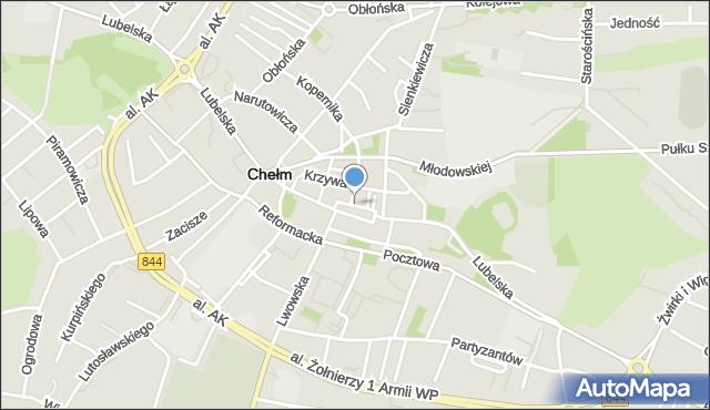 Chełm, Plac Łuczkowskiego Edwarda, dr., mapa Chełma