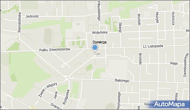 Chełm, Plac Niepodległości, mapa Chełma