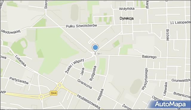 Chełm, Plac Tysiąclecia Państwa Polskiego, mapa Chełma