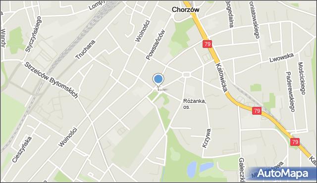 Chorzów, Plac Kopernika Mikołaja, mapa Chorzów