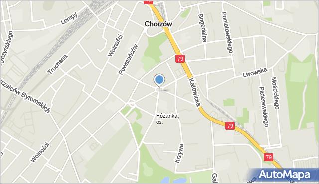 Chorzów, Plac Matejki Jana, mapa Chorzów