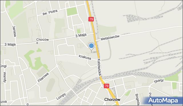 Chorzów, Plac Powstańców Śląskich, mapa Chorzów