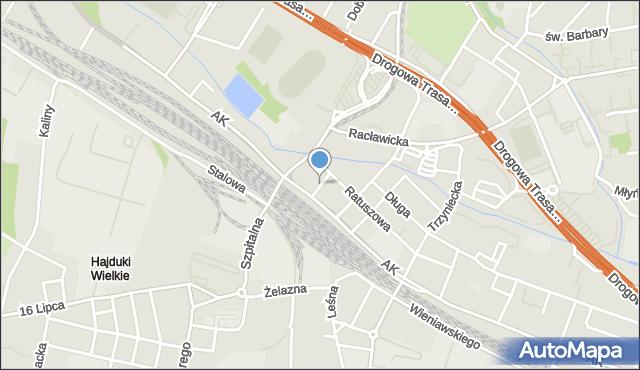 Chorzów, Plac Waryńskiego Ludwika, mapa Chorzów