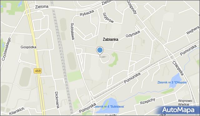 Gdańsk, Plac Wyszyńskiego Stefana, ks. kard., mapa Gdańska