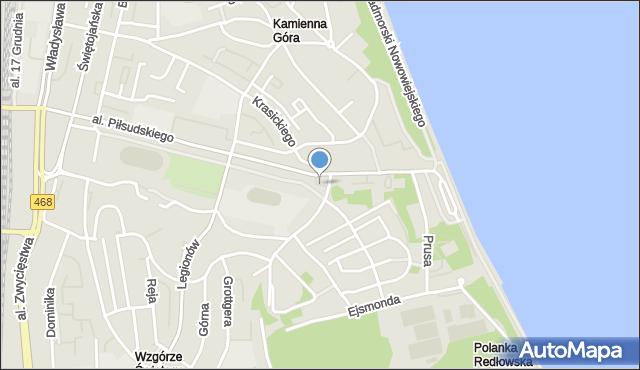 Gdynia, Plac I Brygady Pancernej, mapa Gdyni