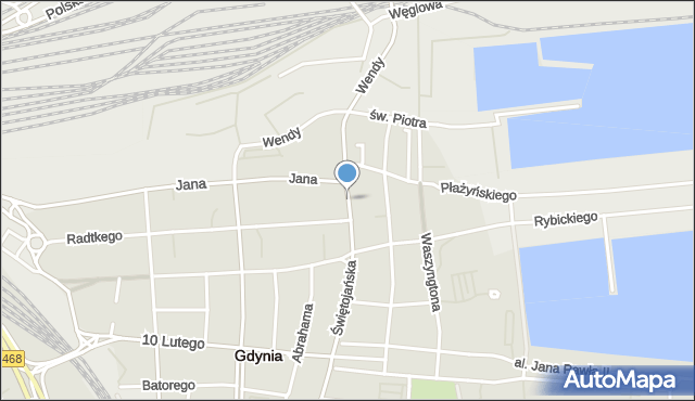 Gdynia, Plac Kaszubski, mapa Gdyni