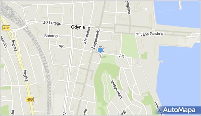 Gdynia, Plac Grunwaldzki, mapa Gdyni