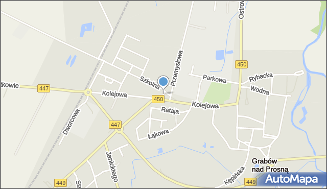 Grabów nad Prosną, Plac Wolności, mapa Grabów nad Prosną