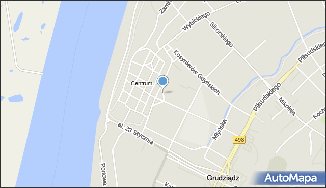 Grudziądz, Plac Niepodległości, mapa Grudziądza