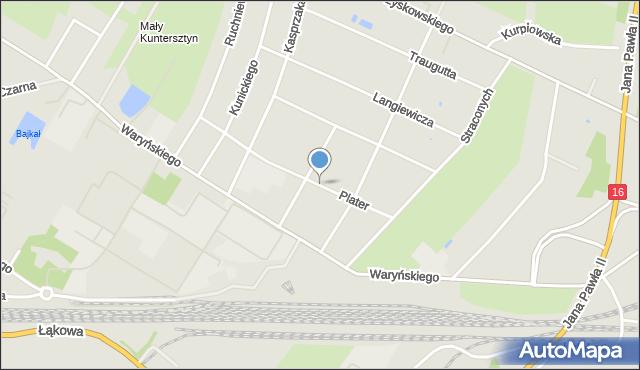 Grudziądz, Plater Emilii, mapa Grudziądza