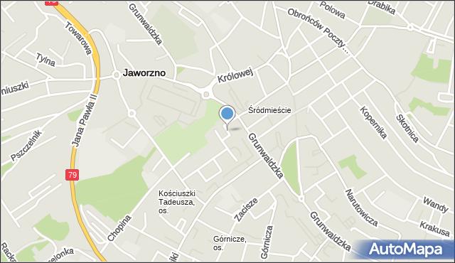 Jaworzno, Plac Górników, mapa Jaworzno