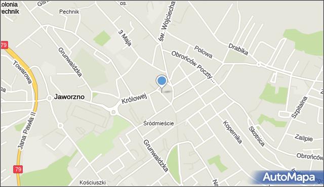 Jaworzno, Plac św. Jana, mapa Jaworzno