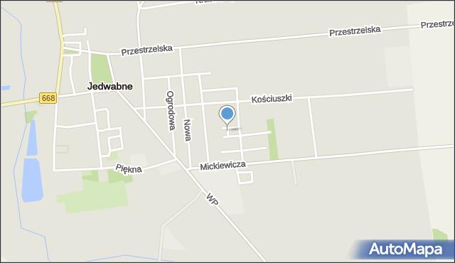 Jedwabne, Plac 250-lecia, mapa Jedwabne
