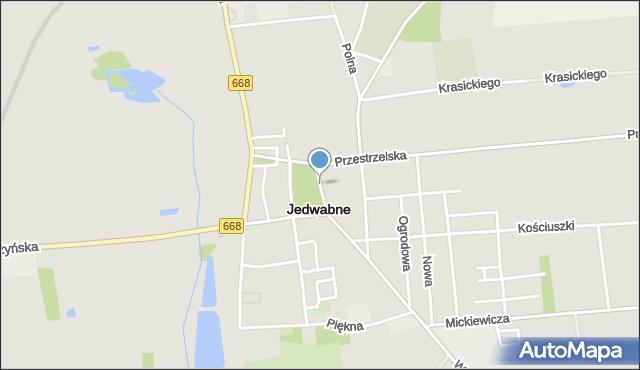 Jedwabne, Plac Jana Pawła II, mapa Jedwabne