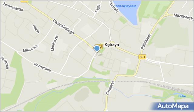 Kętrzyn, Plac Armii Krajowej, mapa Kętrzyn