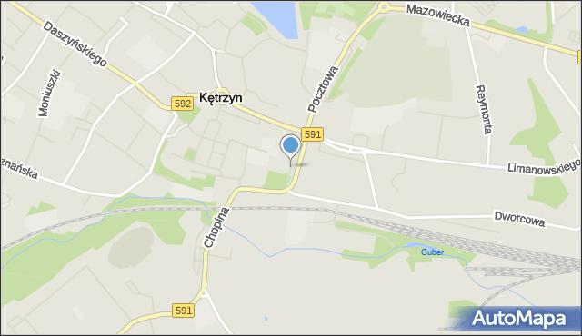 Kętrzyn, Plac Zesłańców Sybiru, mapa Kętrzyn