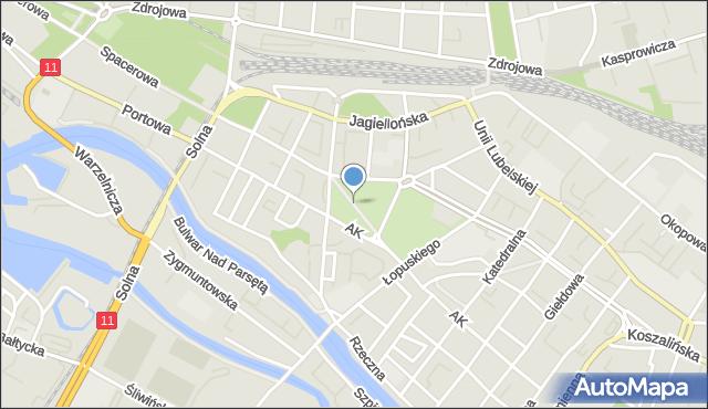 Kołobrzeg, Plac 18 Marca, mapa Kołobrzegu