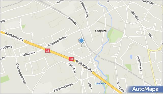 Krosno, Plater Emilii, mapa Krosna