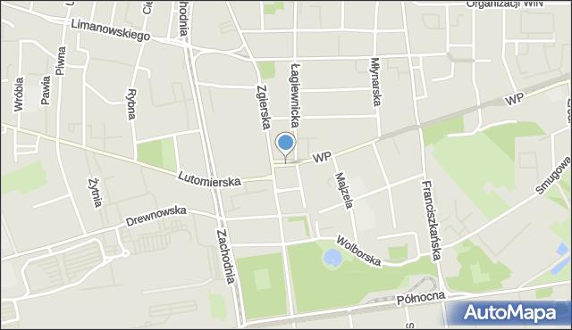 Łódź, Plac Kościelny, mapa Łodzi