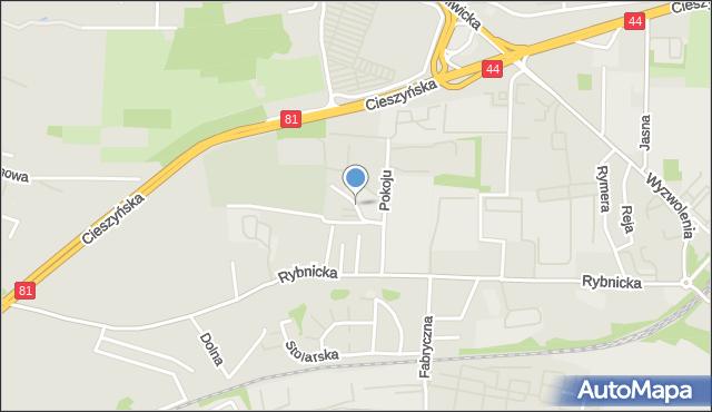Mikołów, Plac Salwatorianów, mapa Mikołów