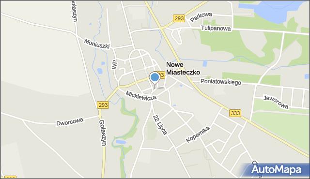 Nowe Miasteczko, Plac 1 Maja, mapa Nowe Miasteczko
