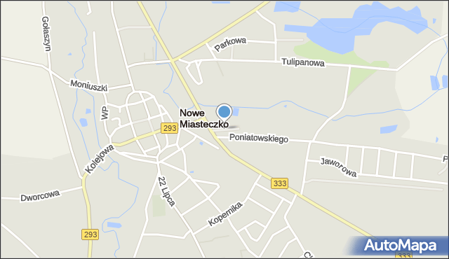 Nowe Miasteczko, Plac Strzelecki, mapa Nowe Miasteczko