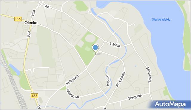 Olecko, Plac Wolności, mapa Olecko