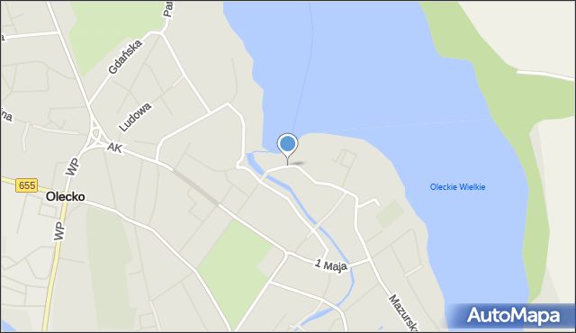 Olecko, Plac Zamkowy, mapa Olecko