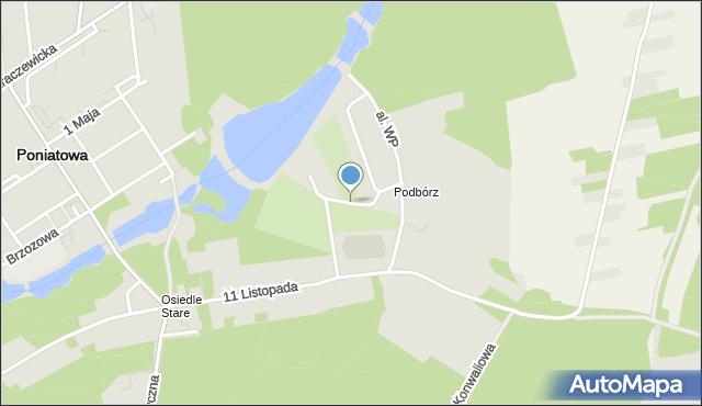 Poniatowa powiat opolski, Plac Zwycięstwa, mapa Poniatowa powiat opolski