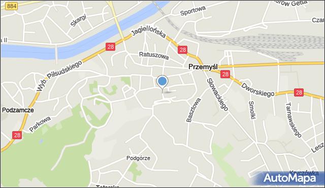 Przemyśl, Plac Czackiego Tadeusza, mapa Przemyśla