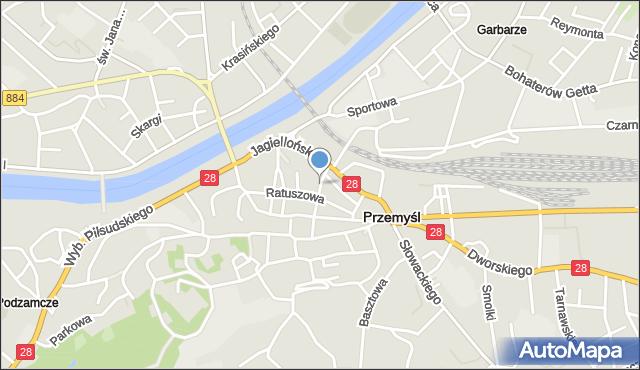 Przemyśl, Plac Joselewicza Berka, płk., mapa Przemyśla