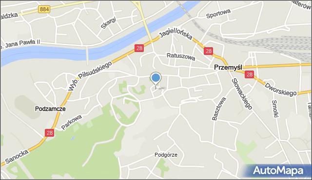 Przemyśl, Plac Katedralny, mapa Przemyśla