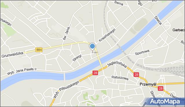 Przemyśl, Plac Orląt Przemyskich, mapa Przemyśla