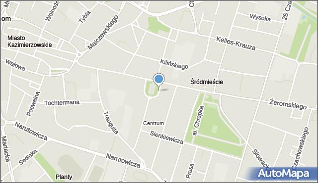 Radom, Plac Konstytucji 3 Maja, mapa Radomia