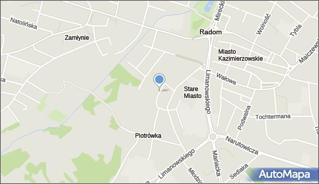 Radom, Plac Stare Miasto, mapa Radomia