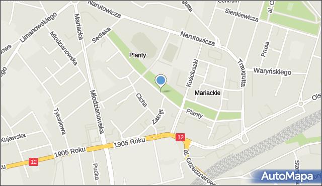 Radom, Planty, mapa Radomia