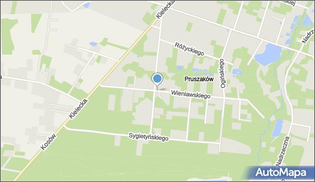 Radom, Plac Zgody, mapa Radomia