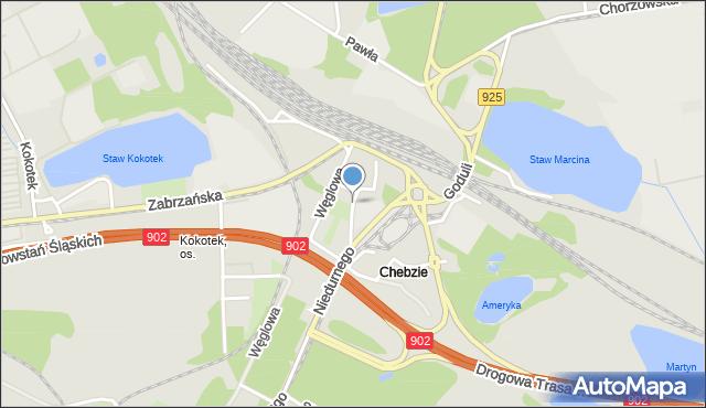 Ruda Śląska, Plac Szkolny, mapa Rudy Śląskiej