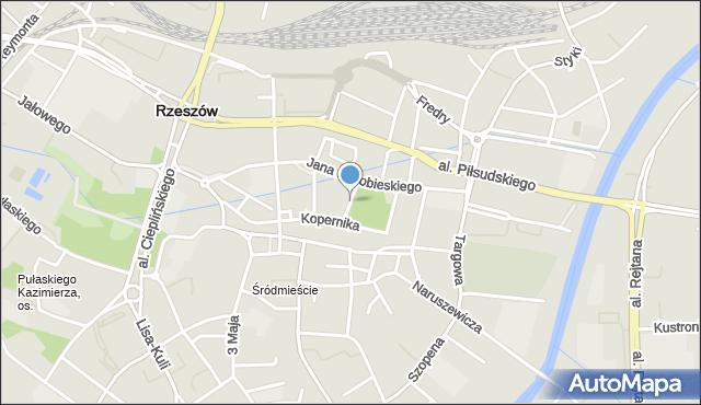 Rzeszów, Plac Ofiar Getta, mapa Rzeszów