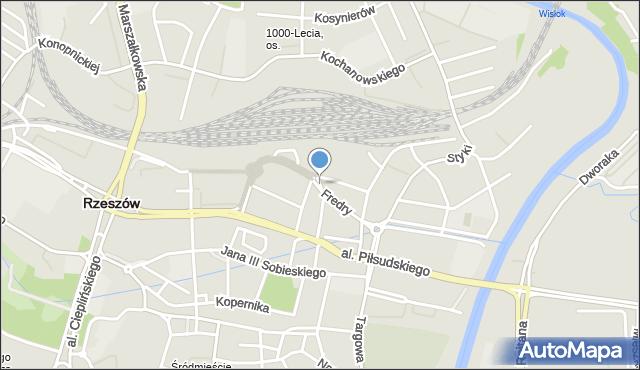 Rzeszów, Plac Kilińskiego Jana, płk., mapa Rzeszów