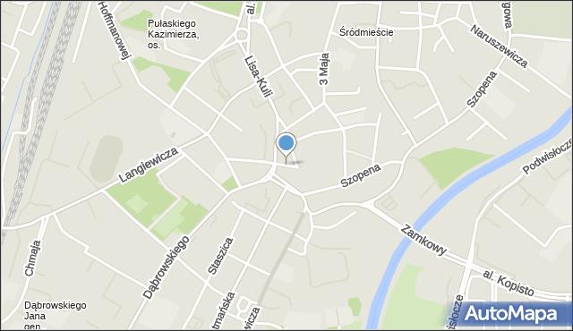 Rzeszów, Plac Śreniawitów, mapa Rzeszów