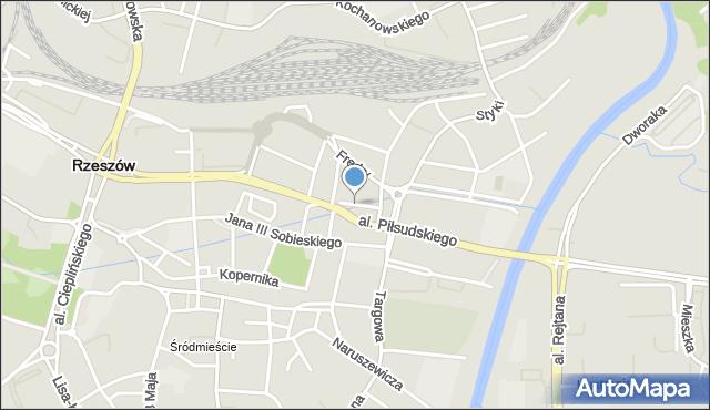 Rzeszów, Plac Wolności, mapa Rzeszów