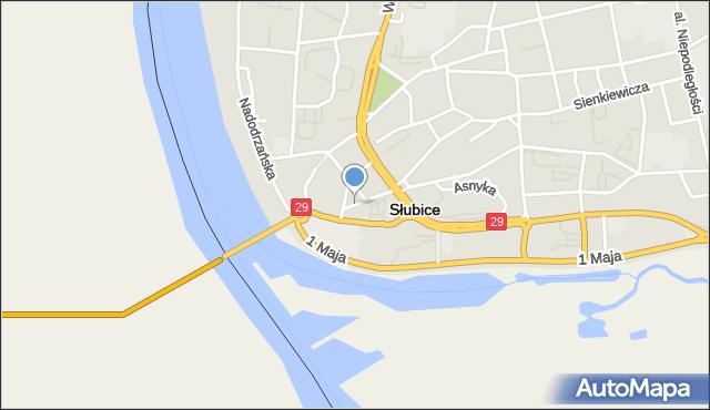 Słubice, Plac Frankfurcki, mapa Słubice