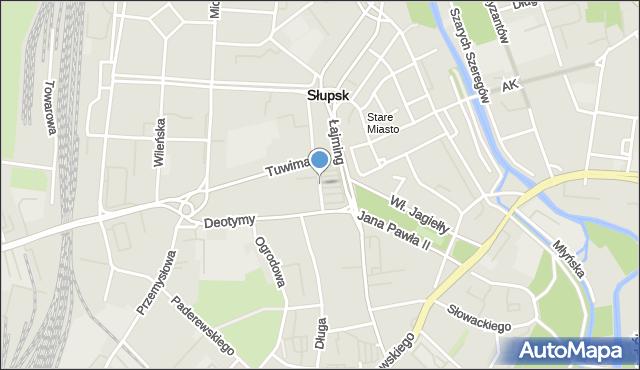 Słupsk, Plac Zwycięstwa, mapa Słupska