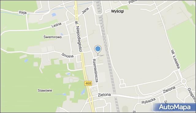 Sopot, Platanowa, mapa Sopotu