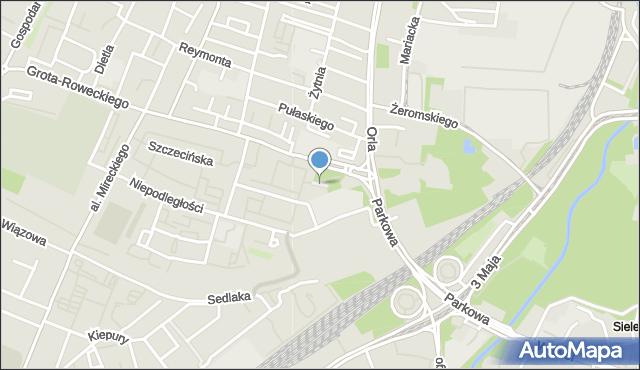 Sosnowiec, Plac Zillingera Waldemara, mapa Sosnowca