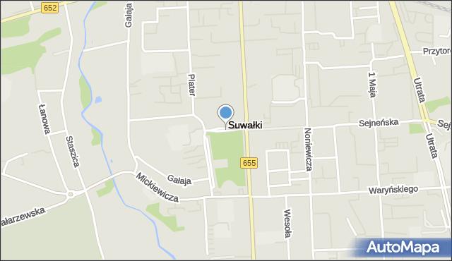 Suwałki, Plac Piłsudskiego Józefa, marsz., mapa Suwałk