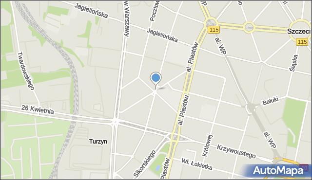 Szczecin, Plac Tarnowskiej Marii, mapa Szczecina