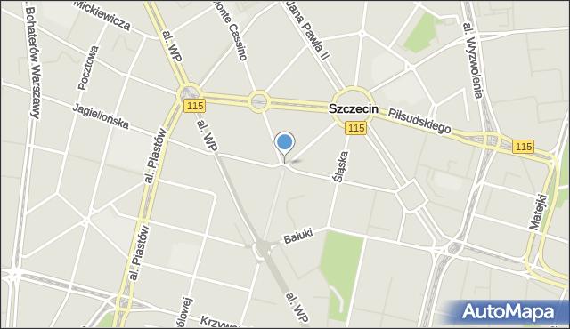 Szczecin, Plac Zamenhofa Ludwika, dr., mapa Szczecina