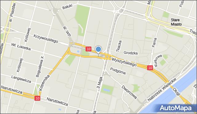 Szczecin, Plac Brama Portowa, mapa Szczecina